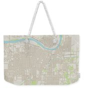 Topeka Kansas Us City Street Map Weekender Tote Bag