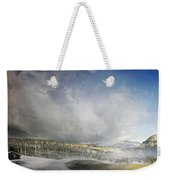 Topic Of Duality Winter-summer Weekender Tote Bag