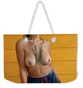 topless Black Hmong 2 Weekender Tote Bag