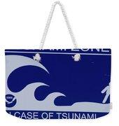 Topsail Island's Tsunami Zone Sign Weekender Tote Bag