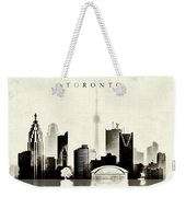 Toronto Black And White Weekender Tote Bag