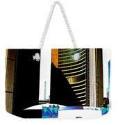 Toronto City Hall Graphic Poster Weekender Tote Bag