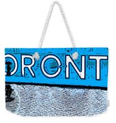 Toronto In The Rain Poster In Blue Weekender Tote Bag