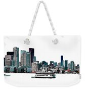 Toronto Portlands Skyline With Island Ferry Weekender Tote Bag