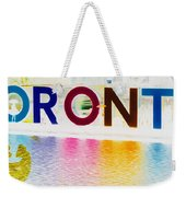Toronto Sign In Muted Colours Weekender Tote Bag