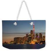 Toronto Skyline At Dusk Weekender Tote Bag