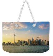 Toronto Skyline At Sunset Weekender Tote Bag