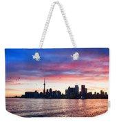 Toronto Skyline Weekender Tote Bag