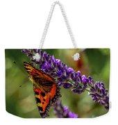Tortoiseshell Butterfly On Lavender Weekender Tote Bag