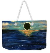 Totality On The Sea - Solar Eclipse  Weekender Tote Bag