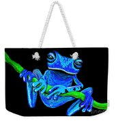 Totally Blue Frog On A Vine Weekender Tote Bag