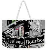 Toulouse And Bourbon Weekender Tote Bag