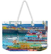 Tour Boats In Port Of Valparaiso-chile Weekender Tote Bag