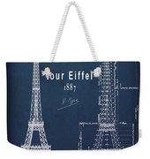 Tour Eiffel Engineering Blueprint Weekender Tote Bag