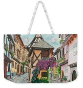 Touring In Eguisheim Weekender Tote Bag by Charlotte Blanchard
