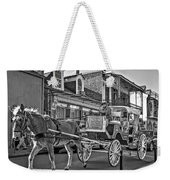 Touring The French Quarter Monochrome Weekender Tote Bag