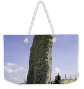 Tourist Admires The Trushal Stone Weekender Tote Bag