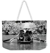 Tourist Boating Thru Tam Coc Bw Weekender Tote Bag