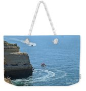 Tourist Boats And Cliffs In Algarve Weekender Tote Bag