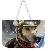 Tourist Dog 2 Square Weekender Tote Bag by Karen Zuk Rosenblatt