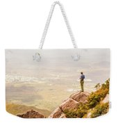 Tourist On The Tip Of Western Tasmania Weekender Tote Bag