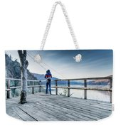 Tourist Taking Picture  Weekender Tote Bag