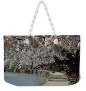 Tourists Enjoy The View At The Tidal Weekender Tote Bag