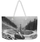 Tourists In Yellowstone Weekender Tote Bag