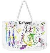 Tous Enseble, All Together, Todos Juntos Weekender Tote Bag