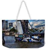 Tower Bridge And Boat Weekender Tote Bag