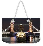 Tower Bridge And Hms Belfast Weekender Tote Bag