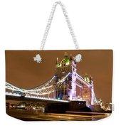 Tower Bridge Evening Weekender Tote Bag