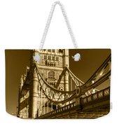 Tower Bridge In Sepia Weekender Tote Bag