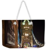 Tower Bridge Side Sign Weekender Tote Bag