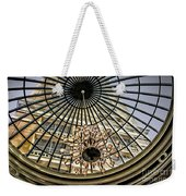 Tower Through Glass Dome In Bellagio Ceiling Weekender Tote Bag