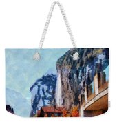 Towering Cliffs And Houses Weekender Tote Bag
