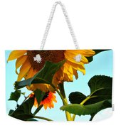 Towering Sunflower Weekender Tote Bag