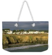 Town At The Seaside, Mendocino Weekender Tote Bag