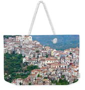 Town Clinging To A Hill Top In Southern Italy Weekender Tote Bag