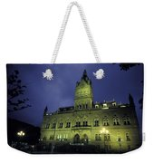 Town Hall At Night In Manchester Weekender Tote Bag