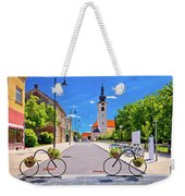 Town Of Bicycles Koprivnica Street View Weekender Tote Bag