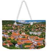 Town Of Drnis And Dalmatian Inland Panorama Weekender Tote Bag