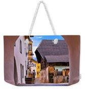 Town Of Kastelruth In Alps Street View Weekender Tote Bag