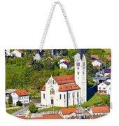 Town Of Krapina Church Vertical View Weekender Tote Bag