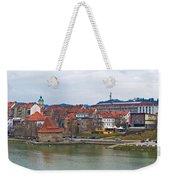 Town Of Maribor Riverfront Panoramic  Weekender Tote Bag