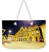 Town Of Ptuj Historic Main Square Evening View Weekender Tote Bag