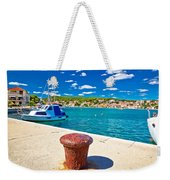 Town Of Tisno Harbor And Waterfront Weekender Tote Bag