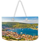 Town Of Vis Panorama From Hill Weekender Tote Bag