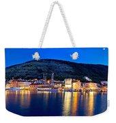 Town Of Vis Waterfront Evening Panorama Weekender Tote Bag