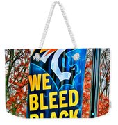 Towson Tigers Black And Gold Weekender Tote Bag